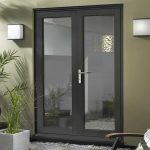 Hardwood Grey French Doors