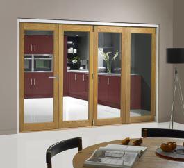 4 Door oak internal bifold
